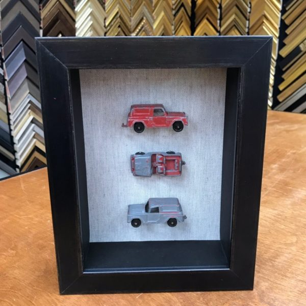 Shadow Box With Old Trucks